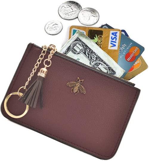 AnnabelZ Coin Purse Change Keychain Wallet