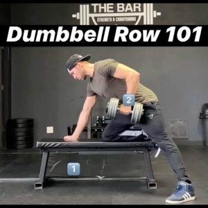 dumbbell row