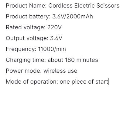 220V Cordless Electric Scissors (2)