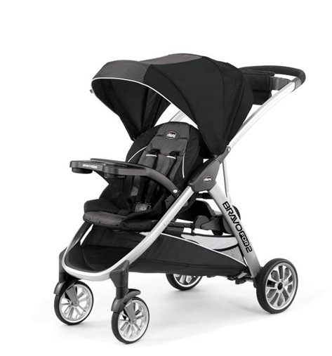 ChiccoBravo for 2 Standing Sitting Double stroller