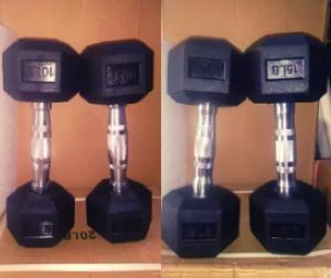 Rubber Hex Dumbbells Fitness Equipment